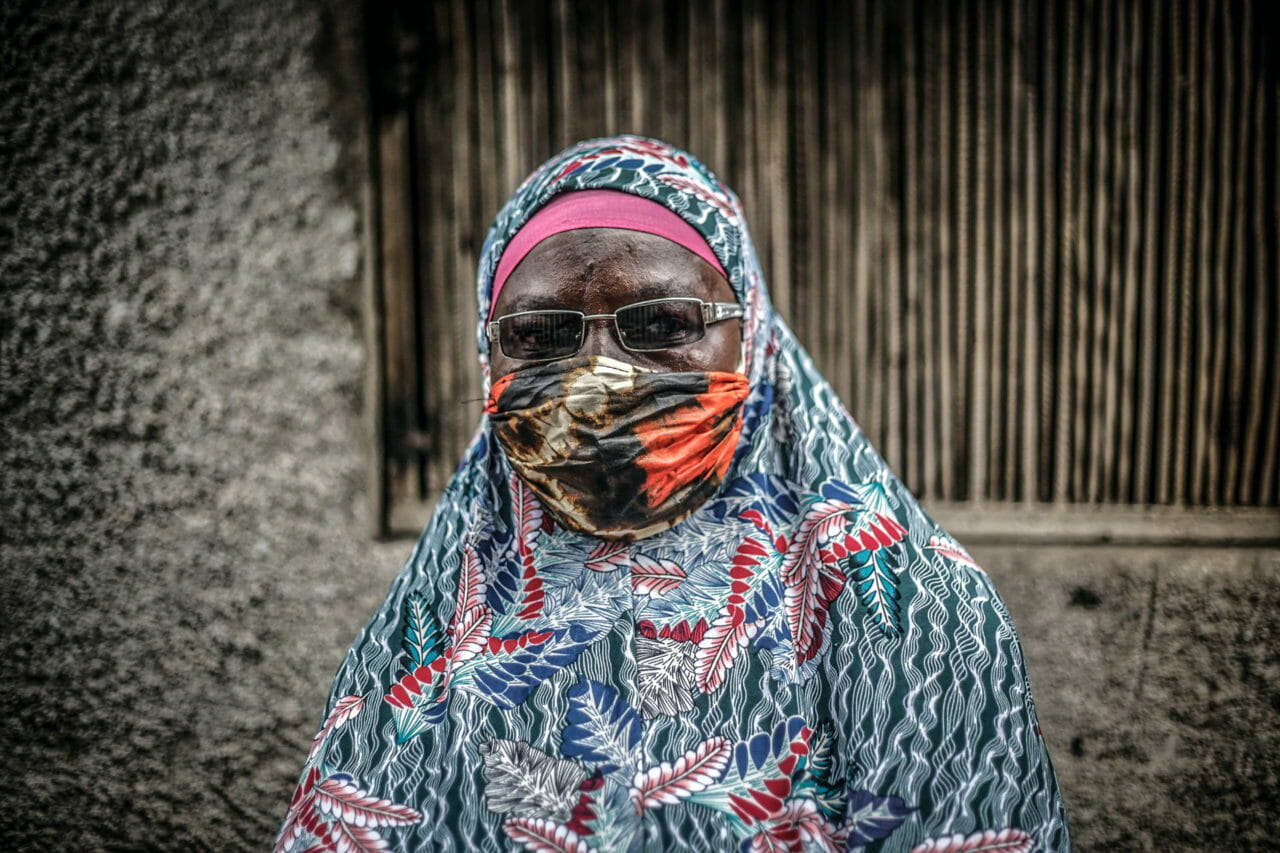 Goma, DRC, 2020. Hajati Assina Missona, a member of an association of muslim women that helps young members of her community gain access to education, in Goma during Ramadan. © Ley Uwera for Fondation Carmignac
